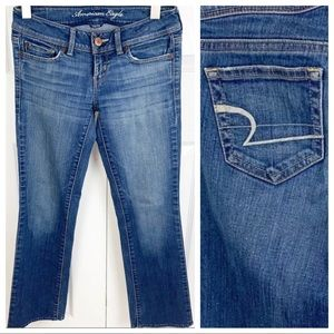 AMERICAN EAGLE 0 Denim Jeans - Slim Boot Short